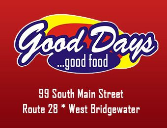 Good Days Restaurant logo with address
